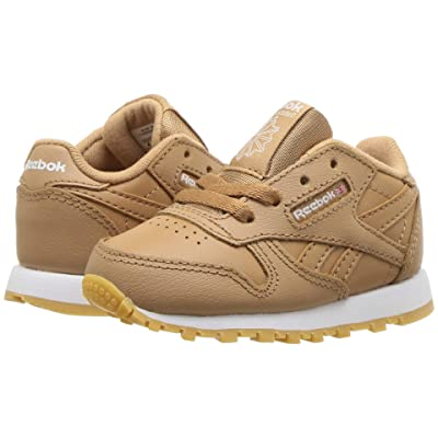 Reebok Kids Classic Leather (Infant/Toddler) (Soft Camel/White) Boys Shoes