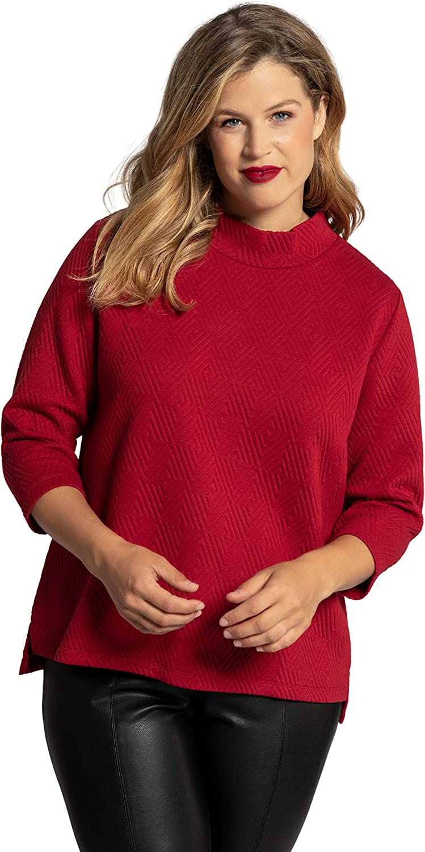 Fort Worth Mall Ulla Popken Womenswear Plus Size Curvy Free Shipping New Diamond Oversize Textured