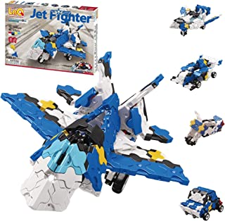 LaQ Hamacron Constructor Jet Fighter - 5 Models, 190 Pieces | Airplane Toy | Japanese Building & Construction Toy for Kids...