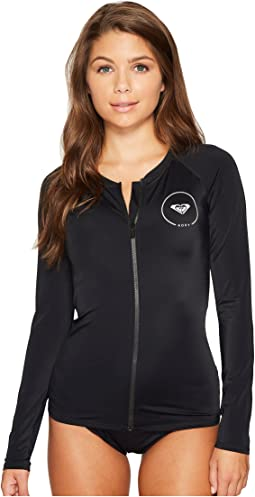 ROXY® Essentials Long Sleeve Zipped Rashguard