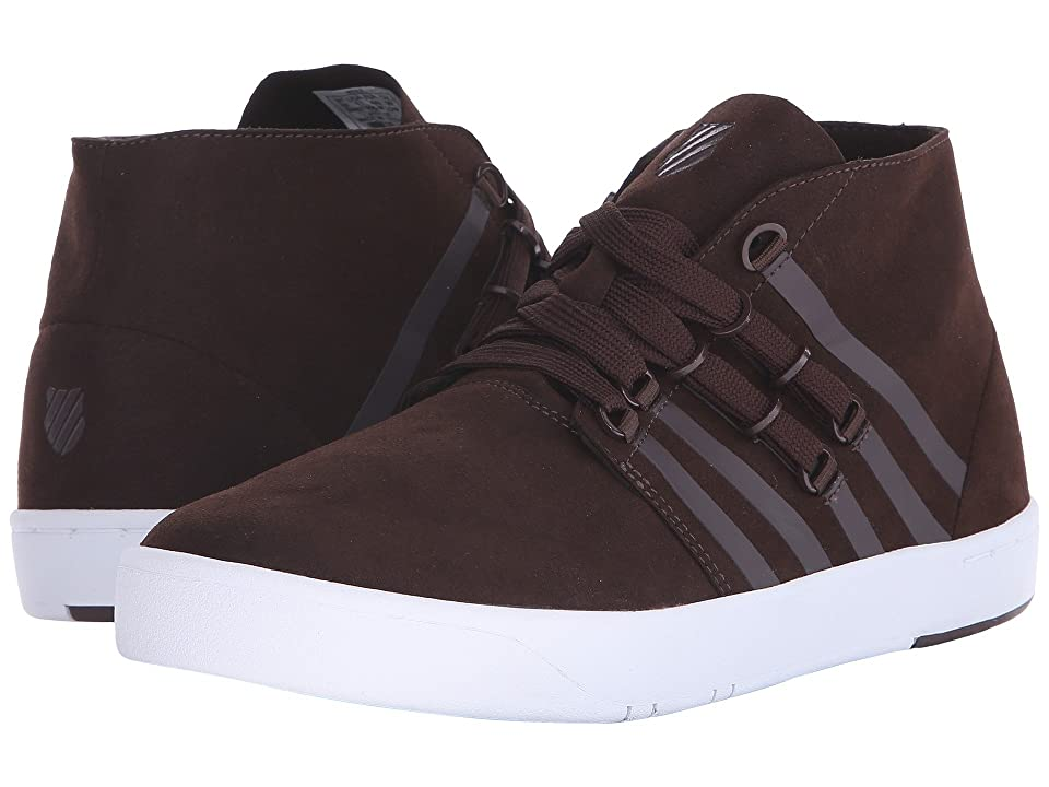 K-Swiss D R Cinch Chukkatm (Chocolate/White Suede) Men