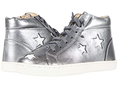 Old Soles Starey High-Top (Toddler/Little Kid) (Rich Silver/Snow) Girl