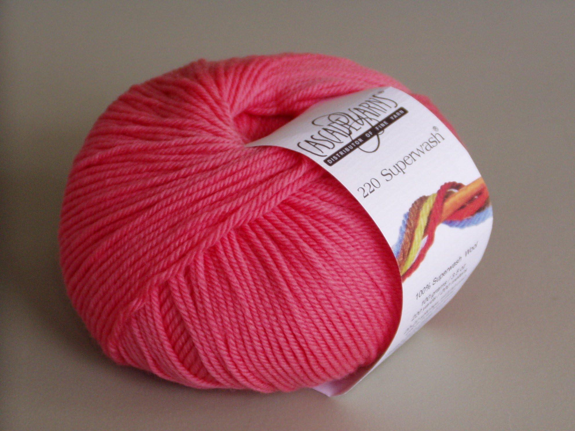 220 super wash  wool yarn by Cascade  Pink