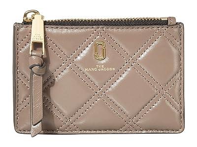 Marc Jacobs The Quilted Softshot Top Zip Multi Wallet (Loam Soil) Wallet Handbags