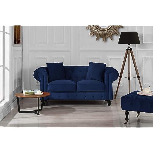Blue Velvet Sofa: Amazon.com