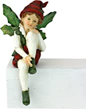 Christmas Decorations - Emmanuel, Santa's Xmas Elf Shelf Sitter Holiday Statue