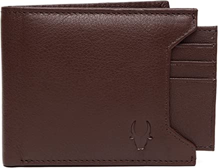 WildHorn Genuine Leather Hand-Crafted Bifold Wallet,Ultra Slim Wallet with 6 Card Slot,Coin pocket,Quick Card Slot and 2 Currency Pocket for ID Card,CreditCard,Business Card,Cash WildHorn Brown WHW130