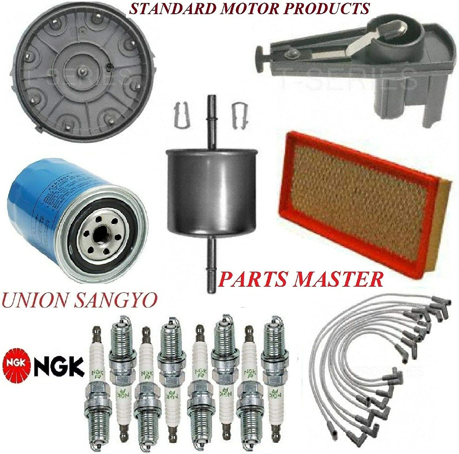 8USAUTO Tune Up Kit Filters Cap Manufacturer OFFicial shop Plugs Ford FIT F-150 New product! New type Spark Wire