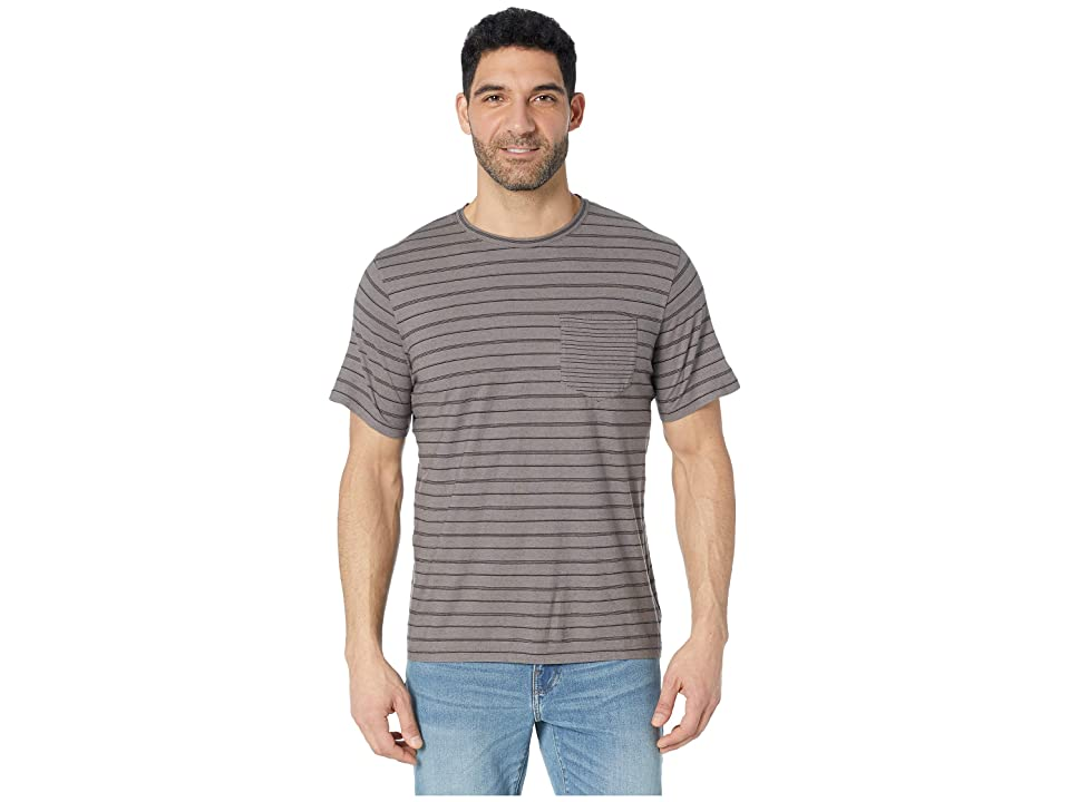 United By Blue Short Sleeve Standard Stripe Tee (Steel Grey) Men