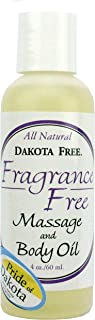 Dakota Free Fragrance Free Massage and Body Oil 4 oz