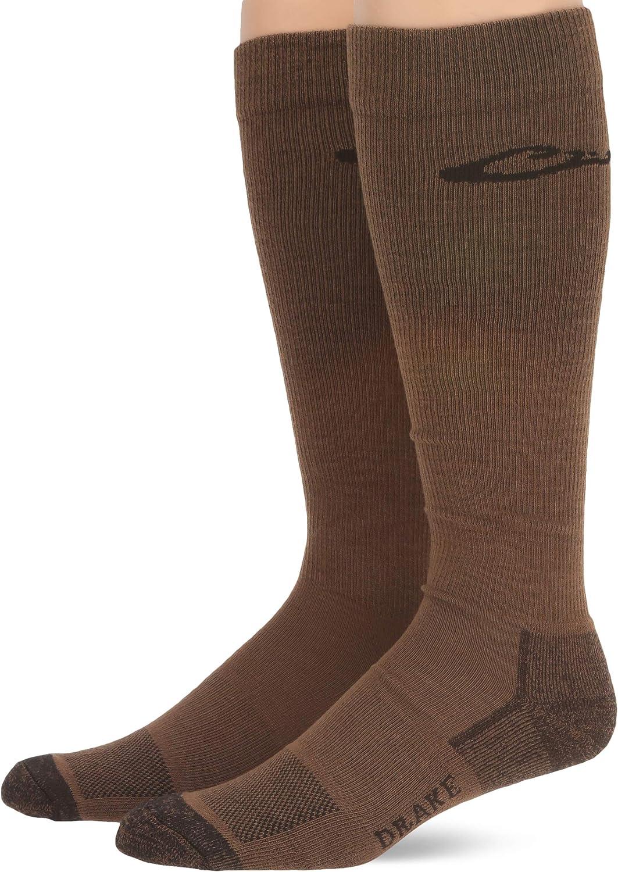 Drake mens Ultra-dri Lightweight Over the Calf Boot Socks 2 Pair Pack