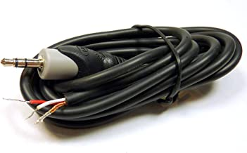 Philmore Fully Shielded 6-ft Cable With Stereo 3.5mm Gold Plated Plug to Stripped & Tinned Bare Wire; 44-394