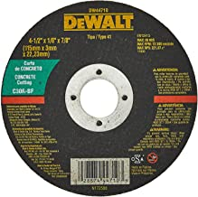 DEWALT Disco de Corte para Concreto de 4 Pol. x 1/2 Pol. x 1/8 Pol. x 7/8 Pol. (102mm x 13mm x 3,18mm x 22mm) DW44710
