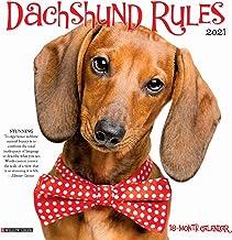 Dachshund Rules 2021 Mini Wall Calendar (Dog Breed Calendar)
