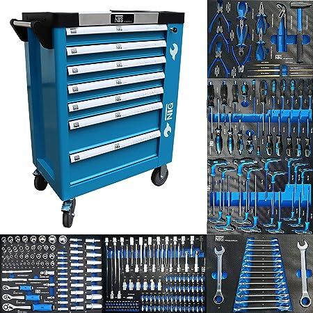 Carro de herramientas para taller con 247piezas