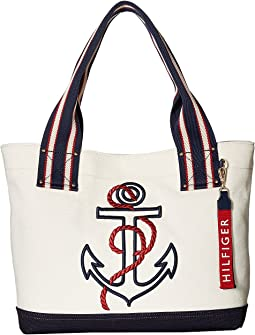 Tommy Hilfiger - Classic Tommy Shopper Anchor Canvas Tote