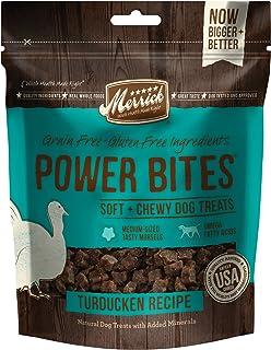 Merrick Power Bites Natural Grain Free Gluten Free Soft & Chewy Chews Dog Treats