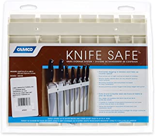 Camco Knife Safe - Securely Mounts on Wood or Metal Surfaces, Holds 7 Cooking and Carving Knives, Organize and Store Knives While Creating Space - (9