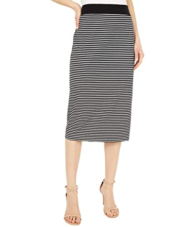 Vince Camuto Mini Stripe Pull-On Knit Skirt (Rich Black) Women