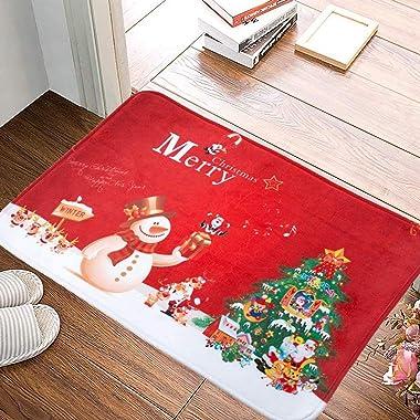 Door Mat, Anti‑Slip Floor Mat, Interchangeable Seasonal Cushion Carpet Home Decoration for Door Area Christmas