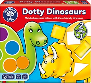 Orchard Toys Dotty Dinosaurs Game, multi-colour