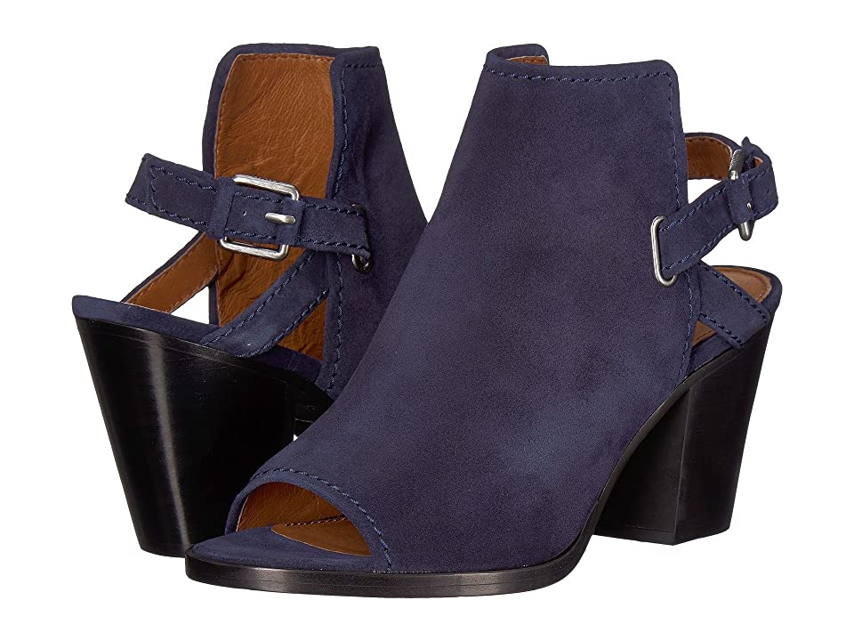 Frye Dani Shield Sling (Navy Oiled Suede) Women