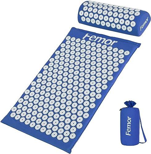 Femor Kit d'Acupression-Coussin de Massage+Tapis de Massage 66*40*2.5cm+Sac, Détendre les Muscles, Réduire la Douleur...