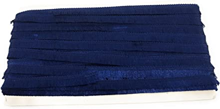 Inhika 9 Meters Lace and Border Material, Blue 8 Meter Soft Thread Tassel, Cotton Silk Fabric (inches Wide, Blue)