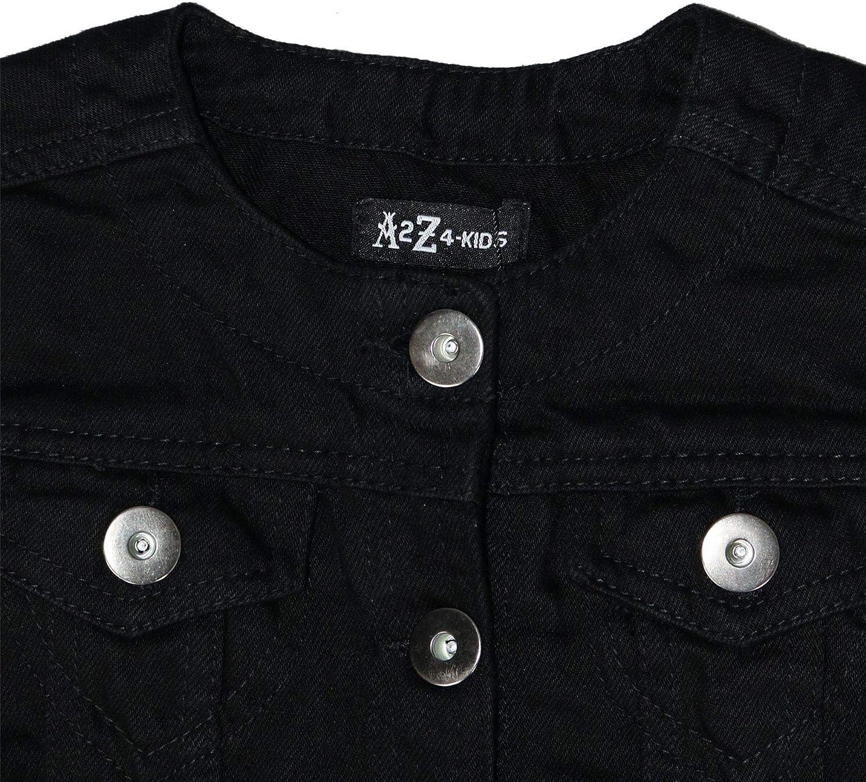 A2Z 4 Kids Kids Girls Denim Jackets Designers Trendy Black Fashion Jeans Jacket Stylish Coats New Age 3 4 5 6 7 8 9 10 11 12 13 Years