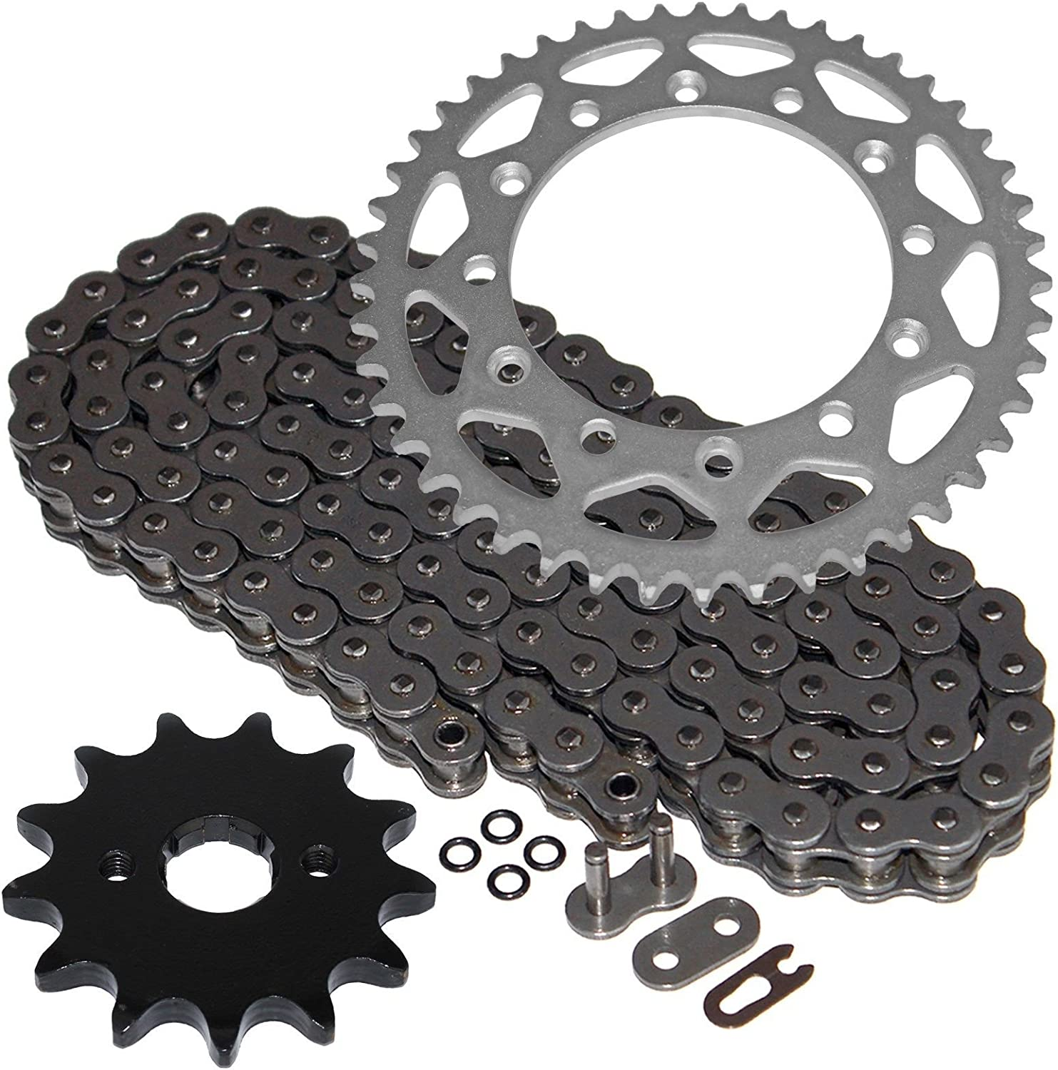 Caltric O-Ring Don't miss the campaign Drive Chain sale W Rear Front Sprockets Compatible Kit