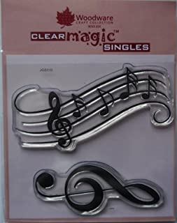Woodware Jane Gill Clear Magic Stamp - Music Notes, A6, Transparent