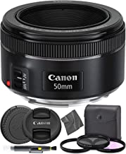 Canon EF 50mm f1.8 STM: (0570C002) Nifty Fifty EF 50 mm f/1.8 Stepper Motor Full Frame Prime Lens + AOM Pro Starter Kit - ...