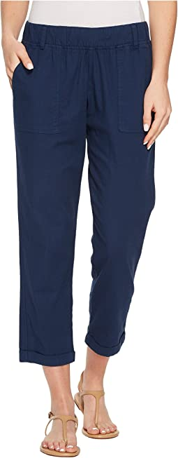 Allen Allen Slub Stretch Cropped Pants