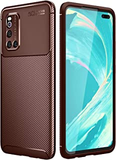 Fashion Phone Case for VIVO V19 CASE for Vivo V19 Carbon Fiber Texture Shockproof Protective Soft Silicone Full Back Cover...