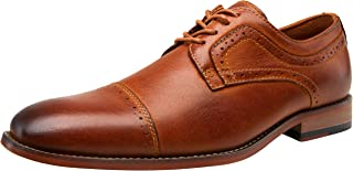 Men's Oxford Retro Leather Formal Lace Up Dress Shoes for Men