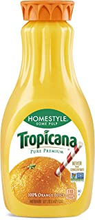 Tropicana Orange Juice, Some Pulp, Homestyle, 52 Fl Oz