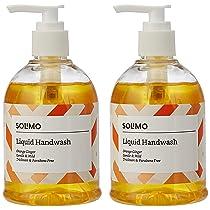 [Pantry] Amazon Brand – Solimo Handwash Liquid, Orange Ginger – 250 ml (Pack of 2)