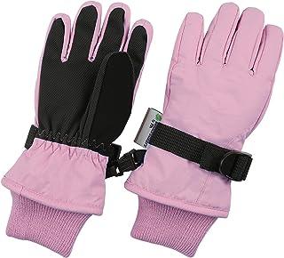 Sponsored Ad - Warmest Waterproof Winter Kids Gloves - For Girls & Boys Best for Snow and Ski