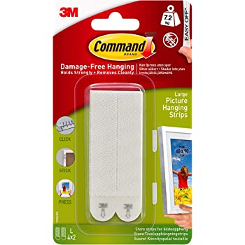 Command Large Picture Hanging Strips, Pack of 4