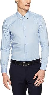 Calvin Klein Men's Extreme Slim Fit Herringbone Twill Shirt