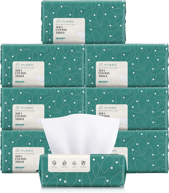 PURRO Unscented Soft Facial Tissue Skin Pure Plan Sensitive for Miami Mall Max 71% OFF