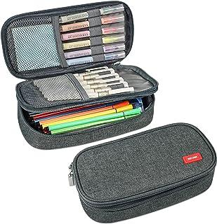 MELCAM Estuche Escolar con 3 Compartimentos Lápices de Gran Capacidad,Estuches Portalapices Caja de Almacenamiento Bolsa d...