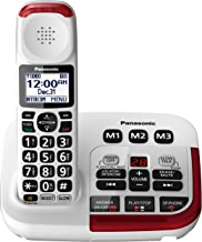 Panasonic Amplified Cordless Phone KX-TGM420W with Enhanced Noise Reduction and Digital Answering Machine - 1 Handset (White)