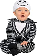 Costumes USA The Nightmare Before Christmas Jack Skellington Costume for Babies, Size 0-6 Months, Includes a Hat