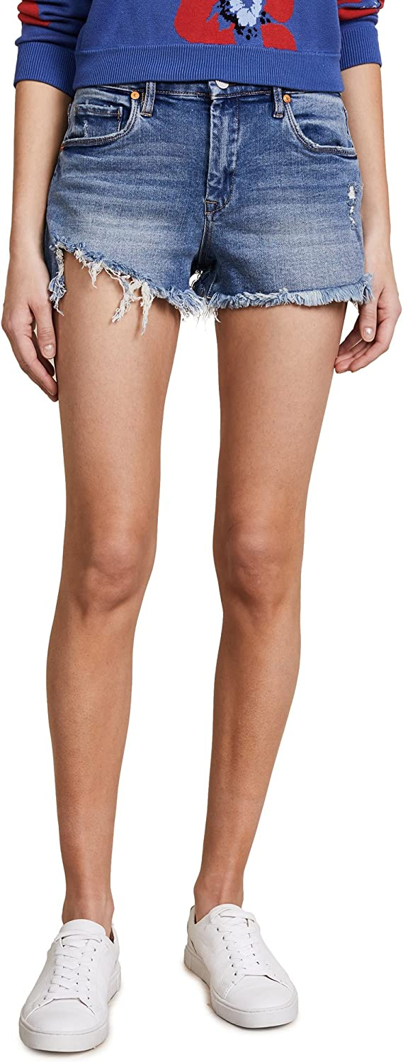 [BLANKNYC] Blank NYC Womens HighRise Wedge Shorts In Thank Me Later