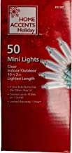 50-mini Lights, Clear String Lights -Green Wire 10 Foot 2 Inches Lighted Length