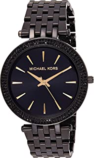 Michael Kors Womens Quartz Watch, Analog Display and Stainless Steel Strap MK3337