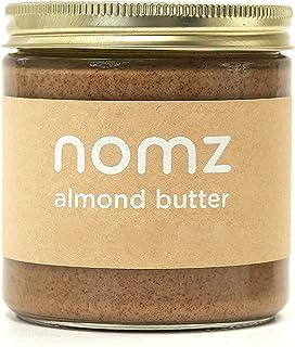 Nomz Nut Butter, Almond, 400g Organic, Vegan, Gluten Free, Paleo, Non GMO. Keto-Friendly Nut Butter