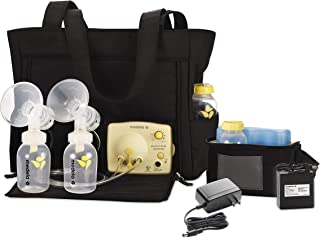 Medela Pump in Style Advanced with Tote, Electric Breast Pump for Double Pumping, Portable Battery Pack, Adjustable Speed and Vacuum, International Adapter, Built-In Bottle Holders