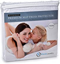 Protector de colchón doble, impermeable, transpirable, bloquea los ácaros del polvo, alérgenos, suave funda de rizo de alg...